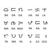 フィリピンの古代文字「バイバイン」。